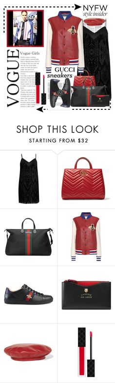 """""""NYFW Style Insider"""" by conch-lady ❤ liked on Polyvore featuring River Island and Gucci"""