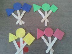 Okul öncesi geometrik şekiller ve renkler çalışmamız