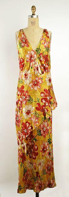 Dress, Evening  Callot Soeurs (French, active 1895–1937)  Date: ca. 1930 Culture: British Medium: silk, metallic thread