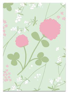 Apila vaaleanpunainen 2-osainen postikortti