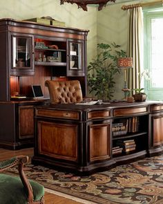 Preston Hollow Executive Desk - traditional - desks - Horchow