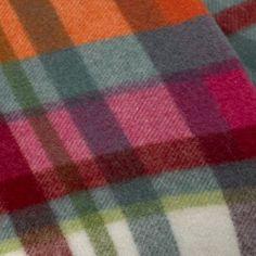 Capri Tartan Italian Lambswool Throw Blanket