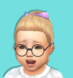 Baby Bowed Pony Tail - Toddler Hair - Kids Room Stuff Conversion - BGCDownload   SFS   DB I tried to make it BGC - I'm not sure if it is BGC or not so download it and try it - if it isn't let me know...