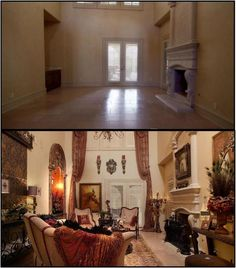 images about Donna Moss Decor Tuscan Living Rooms, Bohemian Living Rooms, Home And Living, Interior Decorating Styles, Tuscan Decorating, Decorating Ideas, Decor Ideas, Room Ideas, Tuscan Design