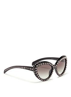 PRADA Stud cat eye frame acetate sunglasses