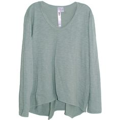 Wilt Long Sleeve Slouchy Boyfriend Tee in Patina (€65) ❤ liked on Polyvore featuring tops, sweaters, shirts, blouses, long sleeves, v-neck shirts, long-sleeve shirt, green shirt, green v neck shirt and v neck shirt