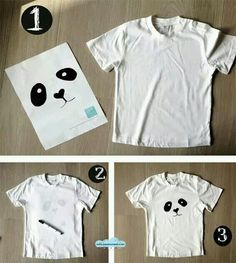 Diy panda shirt for your upcoming panda party! Panda Party, Panda Birthday Party, Panda Costume Kids, Panda Costumes, Panda Love, Cute Panda, Theme Bapteme, Panda Craft, Panda Cakes