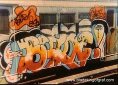 An Interview with Blade, New York's 'King of Graf' Blade is a true graffiti pioneer, painting over pieces on New York's subway between 1972 and Blade embodies everything that is. Famous Graffiti Artists, Street Artists, 3d Street Art, Street Art Graffiti, New York Graffiti, Sidewalk Chalk Art, Wildstyle, Train Art, Graffiti Lettering