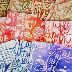 Playing around with mediums and StencilGirl products stencils making backgrounds by Trena Lynn