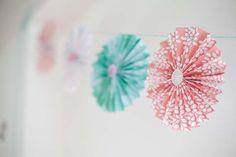 Paper pinwheel garland