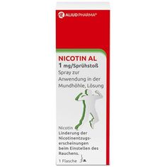 NICOTINE (NICOTIN) AL 1 mg / spray for application in mouth 1 pc UK Nicotine Withdrawal, Withdrawal Symptoms, Increase Appetite, Urticaria, Smoking Cessation, Relapse, Spray Can, Chewing Gum