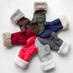 Sweater Mittens, Crochet Mittens, Mittens Pattern, Fingerless Mittens, Fleece Patterns, Sewing Patterns, Hat Patterns, Stitch Patterns, Knitting Patterns