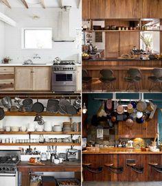 cozinhas com madeira..para quem gosta de cozinhar