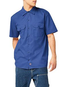 6b57f1033033 Dickies Men s Short Sleeve Work Shirt Stain  amp  Wrinkle Resistant  shirts  Work Shirts