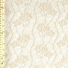 Sand Light Grow Design Lace Fabric by the Yard for by LaceFabrics, $9.90