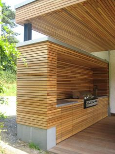 "Find out more relevant information on ""outdoor kitchen designs layout patio"". Br… Find out more relevant information on ""outdoor kitchen designs layout patio"". Browse through our internet site. Modern Outdoor Kitchen, Outdoor Kitchen Bars, Outdoor Kitchens, Backyard Storage, Backyard Patio, Patio Gazebo, Pergola Roof, Outdoor Pergola, Backyard Ideas"