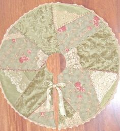 pattern victorian quilted tree skirt | Velvet Crazy Quilt | Victorian Rose Vintage Lace Velvet Crazy Quilt ...