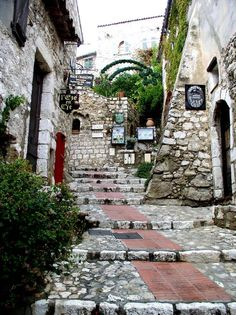 The magical land of Eze, France. Looks like a Disney movie...