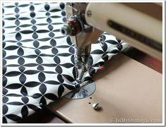 Easy-Sew Reversible Padded Headboard Cover