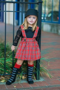 Dreaming Kids Red Plaid Rushed Jumper - Alexis is Word! Baby Girl Dress Patterns, Little Girl Outfits, Toddler Girl Outfits, Little Girl Fashion, Little Girl Dresses, Toddler Fashion, Kids Outfits, Kids Fashion, Girls Dresses