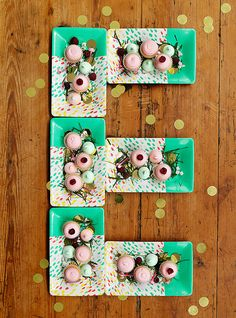 @Joy Cho / Oh Joy! made the alphabet out of her party line. inspiration overload!
