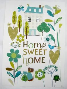 Home sweet Home, Liz and Pip print http://www.lizandpip.com/RR-PR008.html…