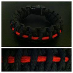 #paracord #bracelet #kingcobra #redline #firefighter $10 Email: knottysurprise@gmail.com