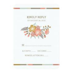 Floral Wedding RSVP FLORAL ANTLERS | WEDDING RESPONSE CARD