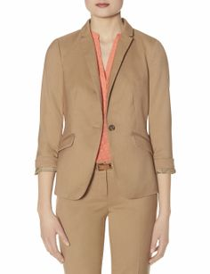 Soft One Button Jacket | Modern Suit Jacket | THE LIMITED  #PetitesStyle #TheLimited #Blazer