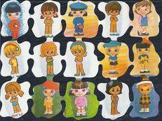 JUGUETES PARA TODOS: LOS CROMOS, UN JUEGO DE NIÑAS Drawing Sketches, Drawings, Paper Dolls, Nostalgia, Kids Rugs, Animation, Toys, Crochet, Vintage