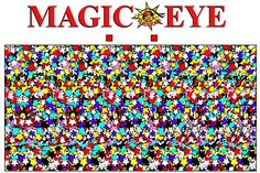 There are two types of people in this world—people who can see Magic Eye images, and people who can't. And there's a perfectly legitimate reason for that. Magic Illusions, Optical Illusions, Magic Eye Pictures, Magical Pictures, 3d Stereograms, Can You Find It, Eye Images, Magic Eyes, Magic Tricks