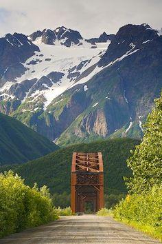 Million Dollar Bridge Road in the Chugach National Forest, Alaska