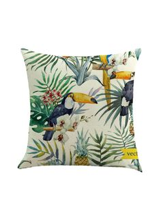Shop Tropical And Bird Print Cushion Cover online. SheIn offers Tropical And Bird Print Cushion Cover & more to fit your fashionable needs.