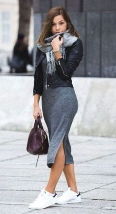 36 Fashionable Fall Winter Outfit Ideas with Sneaker  #OutfitwithSneaker