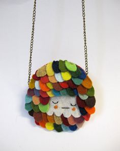 Scalloped Necklace in Dozy Rainbow from Cat Rabbit in Australia $45.00 -- well hello, you're ADORABLE