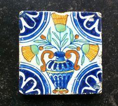 Antique Early Dutch Delft Tile Flower Vase Circa 1600 1625   eBay