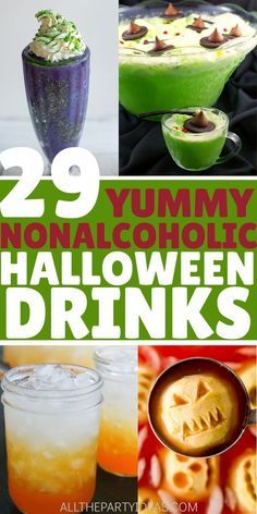 29 Halloween Drinks & Punch Recipes for Kids, Teens, Adults [Non-Alcoholic] Halloween Punch For Kids, Halloween Drinks Kids, Halloween Cocktails, Healthy Halloween, Halloween Food For Party, Halloween Treats, Costume Halloween, Haloween Drinks, Punch Recipes For Kids