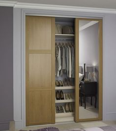 Inspirational Oak Shaker panel door and Oak Shaker mirror door