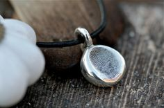 Personalized Fingerprint Nugget Necklace by Joulberry on Etsy, £150.00