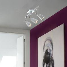 DESCUENTOS - OFERTAS - OUTLET Lámpara Foco LED 3 luces cromo. #iluminación #decoración