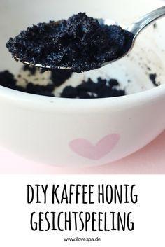 DIY Kaffe Honig Gesichtspeeling selber machen - Gesichts Peeling mit Kaffee und Honig