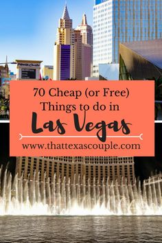 A trip to Las Vegas doesn't have to break the bank. Las Vegas is full of cheap, and even free things to do. This list tells you about 70 free or cheap things to do in Las Vegas! Usa Travel Guide, Travel Advice, Budget Travel, Travel Usa, Travel Tips, Travel Destinations, Travel Ideas, Travel Goals, Hawaii Travel