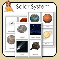 There are 16 solar system graphics featured in these flash / 3-part cards