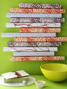 In the Mail -mailing tubes were used to create this- but you could do a smaller version with paper towel tubes!  great for those small scraps of left over fabrics or quilting pieces- if can't sew - you can do this with your favorite fabric!