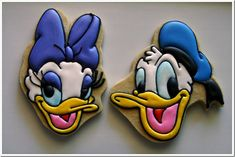 Daisy & Donald Duck Cookies made by Casey's Confections