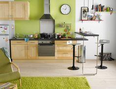 meuble de cuisine delinia, composition type topaze bois | leroy