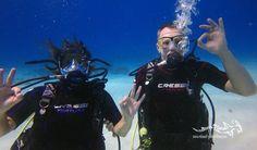 Fun together at Curacao ...  #scuba #oceanreef #cressi #curacaotb #curacao #diving #duiken #tauchen #relaxedguideddives #fun