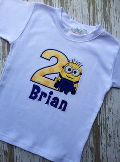 Minion Birthday Shirt By LillysBowtique On Etsy 2400 Minions Theme
