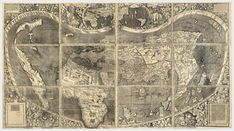 America's birth certificate in the Library of Congress in Washington D.: Martin Waldseemüller's map of the world Source: Library of Congress Early World Maps, Old World Maps, Christoph Kolumbus, Early Modern Period, Framed Prints, Canvas Prints, Big Canvas, Canvas Art, Geography