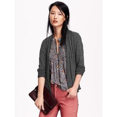 Old Navy Womens Open Front Cardigan ($20) ❤ liked on Polyvore featuring tops, cardigans, black, old navy, fitted black top, black open front cardigan, lightweight open front cardigan and black cardigan